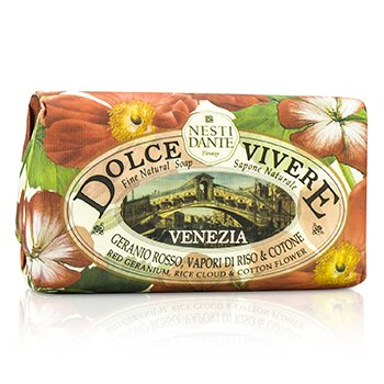 Nesti Dante Dolce Vivere Fine Natural Soap - Venezia - Red Geranium, Rice Cloud & Cotton Flower