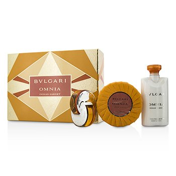 Bvlgari Omnia Indian Garnet Coffret: Eau De Toilette Spray 15ml + Scented Soap 150g + Body Lotion 75ml