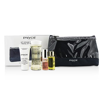 Payot Travel Kit Top To Toe Set: Cleansing Oil 50ml + Cream 15ml + Elixir DEan Essence 5ml + Elixir Oil 10ml + Bag