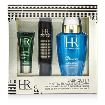 Helena Rubinstein Lash Queen Mystic Blacks Mascara Set: Mascara 7ml + MakeUp Remover 50ml + Powercell 3ml