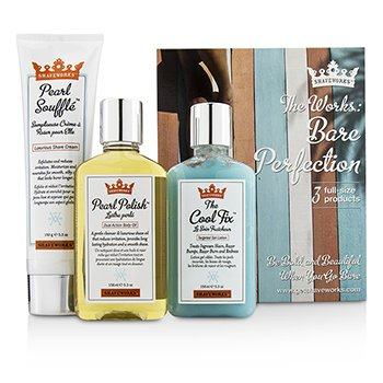Anthony Shaveworks Bare Perfection Kit: Shave Cream 150g + Targeted Gel Lotion 156ml + Body Oil 156ml