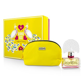 Anna Sui Flight Of Fancy Coffret: Eau De Toilette Spray 30ml + Cosmetic Pouch