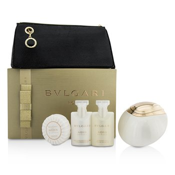 Bvlgari Aqva Divina Coffret: Eau De Toilette Spray 65ml + Body Lotion 40ml + Shower Gel 40ml + Soap 50g + Pouch