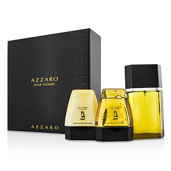 Loris Azzaro Azzaro Coffret: Eau De Toilette Spray 100ml + Hair & Body Shampoo 75ml + After Shave Balm 75ml