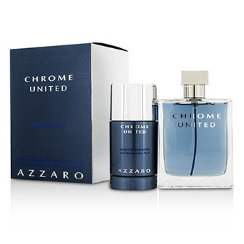 Loris Azzaro Chrome United Coffret: Eau De Toilette Spray 100ml + Deodorant Stick 75ml