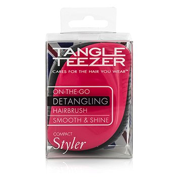 Tangle Teezer Compact Styler On-The-Go Detangling Hair Brush - # Pink Sizzle