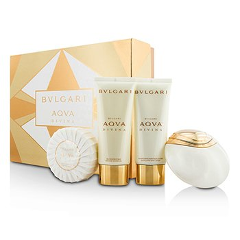 Bvlgari Aqva Divina Coffret: Eau De Toilette Spray 65ml + Body Lotion 100ml + Shower Gel 100ml + Soap 150g