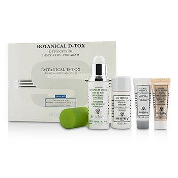 Sisley Botanical D-Tox Detoxifying Discovery Program: Botanical D-Tox 30ml + Make-Up Remover 30ml + Mask 10ml + Pore Minimizer 10ml