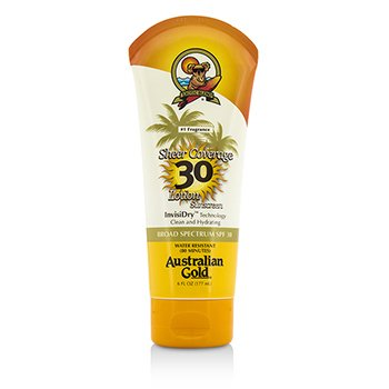 Australian Gold Sheer Coverage Lotion Sunscreen Broad Spectrum SPF 30