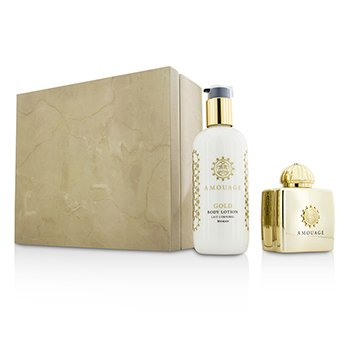 Amouage Gold Set: Apã de Parfum Spray 100ml + Lo?iune de Corp 300ml