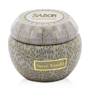 Sabon Tin Scented Candle (Small) - Sweet Vanilla
