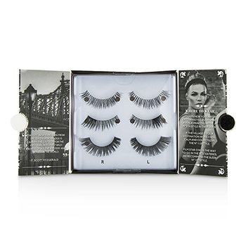 Eylure The New York Edit False Lashes Multipack - # 114, # 118, # 107 (Adhesive Included)