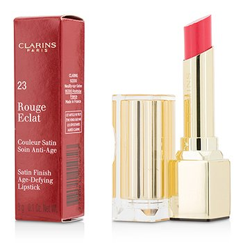 Clarins Rouge Eclat Satin Finish Age Defying Lipstick - # 23 Hot Rose