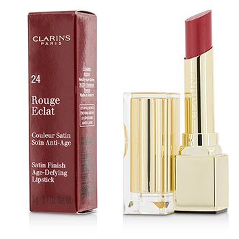 Clarins Rouge Eclat Satin Finish Age Defying Lipstick - # 24 Pink Cherry