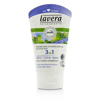 Lavera Organic Mint 3 In 1 Wash, Scrub, Mask 61703 ok