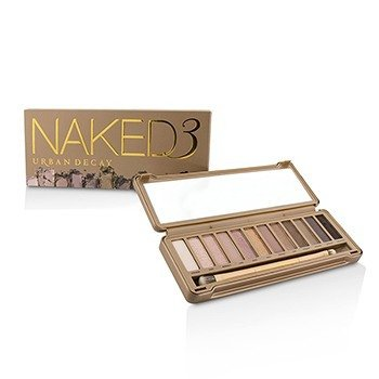 Naked 3 Eyeshadow Palette: 12x Eyeshadow, 1x Doubled Ended Shadow Blending Brush