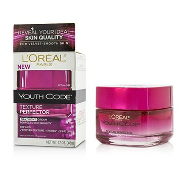 LOreal Youth Code Texture Perfector Day/Night Cream - For All Skin Types (Box Slightly Damaged)