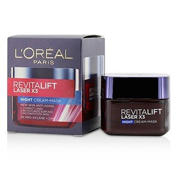 LOreal Revitalift Laser x3 New Skin Anti-Aging Night Cream-Mask