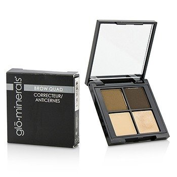 GloMinerals Brow Quad (2x Brow Powder, 1x Brow Highlighter, 1x Brow Wax) - Brown