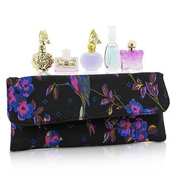Anna Sui Miniature Coffret: Flight Of Fancy + La Nuit De Boheme + La Vie De Boheme + Romantica + Secret Wish + Pouch