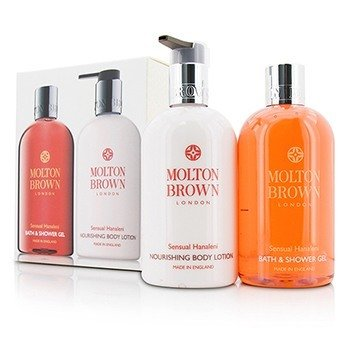 Molton Brown Sensual Hanaleni Bath & Body Set: Bath & Shower Gel 300ml + Nourishing Body Lotion 300ml