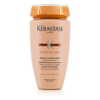 Kerastase Discipline Bain Fluidealiste Smooth-In-Motion Sulfate Free Shampoo - For Unruly, Over-Processed Hair (New Packaging)