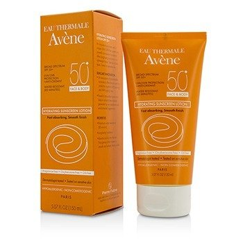 Avene Hydrating Sunscreen Lotion SPF 50 For Face & Body - 80 Minutes Water Resistant