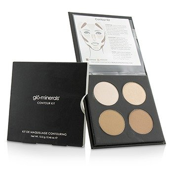 GloMinerals Contour Kit (1x Highlight, 1x Shimmer Highlight, 2x Contour) - Medium To Dark