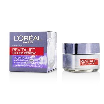 LOreal Revitalift Filler Renew Replumping Care Anti-Ageing Day Cream - All Skin Types, even Sensitive