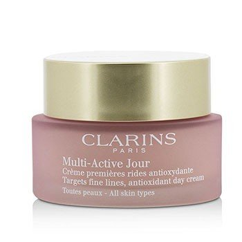 Clarins Multi-Active Day Targets Fine Lines Antioxidant Day Cream - For All Skin Types (Unboxed)