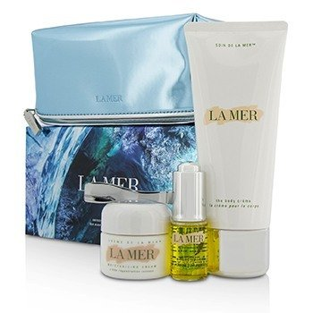 La Mer Sensorial Sensations Set: The Renewal Oil 15ml + Creme De La Mer The Moisturizing Cream 30ml + The Body Creme 200ml +Bag