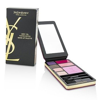 Very YSL Makeup Palette (Fuchsia Edition) (1x Blush, 2x Lipcolour, 4x Eyeshadow, 3x Applicator)