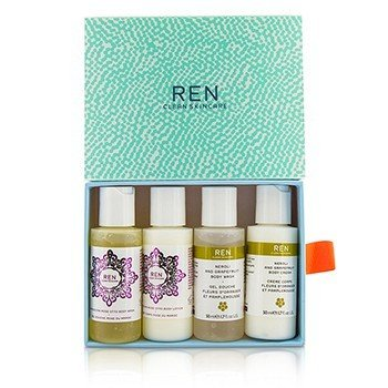 Ren Body Travel Kit: 2x Body Wash 50ml, 1x Body Lotion 50ml, 1x Body Cream 50ml