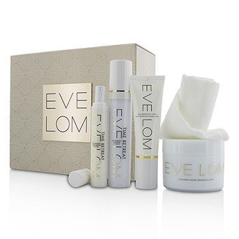 Eve Lom Restorative Ritual Set: Cleanser 200ml+Face Treatment 50ml+Eye Treatment 15ml+Daily Protection SPF 50+Muslin Cloth