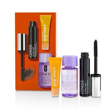 Clinique Chubby Lash Fattening Mascara Set (1x Mascara, 1x Eye Cream, 1x Makeup Remover)