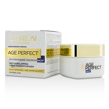 LOreal Age Perfect Re-Hydrating Night Cream - For Mature Skin