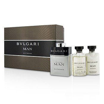 Bvlgari Man Extreme Coffret: Eau De Toilette Spray 60ml + After Shave Balm 40ml + Shower Gel 40ml