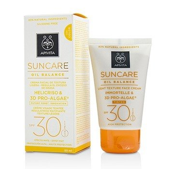 Apivita Suncare Oil Balance Light Texture Face Cream SPF 30 -Tinted-
