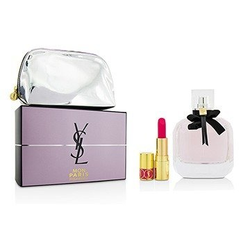 Yves Saint Laurent Mon Paris Coffret: Eau De Parfum Spray 90ml + Mini Lipstick + Pouch