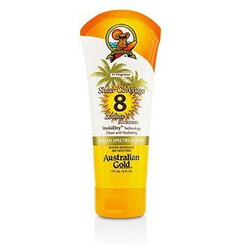 Australian Gold Sheer Coverage Lotion Sunscreen Broad Spectrum SPF 8