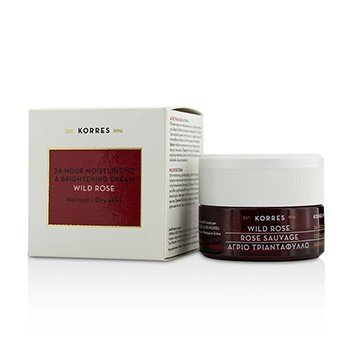 Korres Wild Rose 24 Hour Moisturising & Brightening Cream - Normal to Dry Skin
