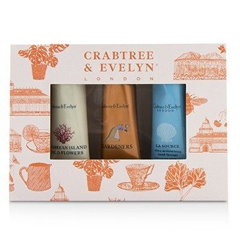 Crabtree & Evelyn Bestsellers Hand Therapy Set (1x Caribbean Island Wild Flowers, 1x Gardeners, 1x La Source)
