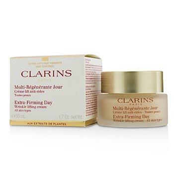 Clarins Extra-Firming Day Wrinkle Lifting Cream - All Skin Types (Box Slightly Damaged)