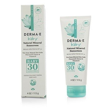 Derma E Natural Mineral Sunscreen Broad Spectrum SPF 30 - Baby