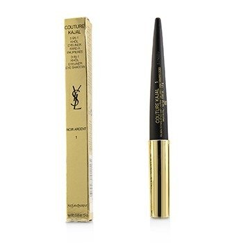 Yves Saint Laurent Couture Kajal 3 in 1 Eye Pencil (Khol/Eyeliner/Eye Shadow) - #1 Noir Ardent (Box Slightly Damaged)