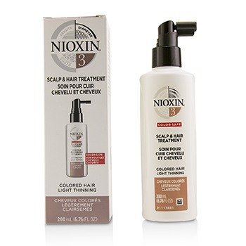 Nioxin 3D Care System 3 Scalp & Hair Treatment (Colored Hair, Light Thinning, Color Safe)