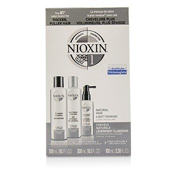 Nioxin 3D Care System Kit 1 - For Natural Hair, Light Thinning, Light Moisture