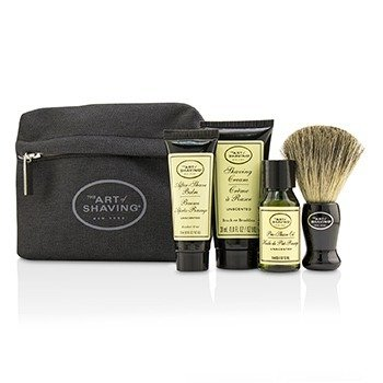 The Art Of Shaving Starter Kit - Unscented: Pre Shave Oil + Shaving Cream + After Shave Balm + Brush + Bag