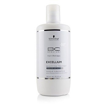 Schwarzkopf BC Excellium Q10+ Pearl Beautifying Treatment - For Silver and White Hair (Exp. Date: 10/2018)