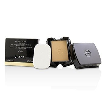 Chanel Le Teint Ultra Ultrawear Flawless Compact Foundation Luminous Matte Finish SPF15 Refill - # 50 Beige